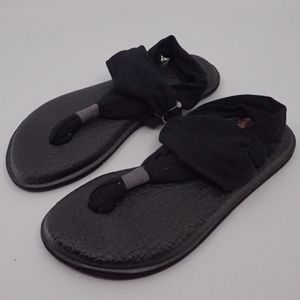 Sanuk Yoga Sling 2 Black Sandals 5 - NWT